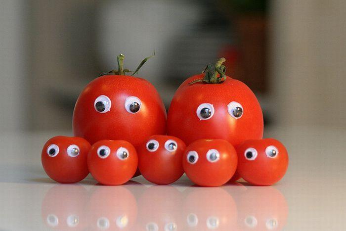 Открытки, смешные фрукты и овощи картинки